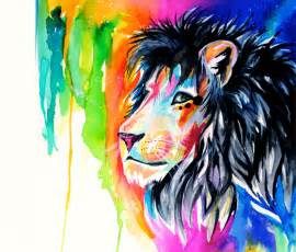 what color are lions rainbow color drawing by katy lipscomb no 1379