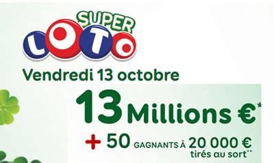 Grille Loto Vendredi 13 by Vendredi 13 Loto Sp 233 Cial Une Date Cl 233 Pour Les