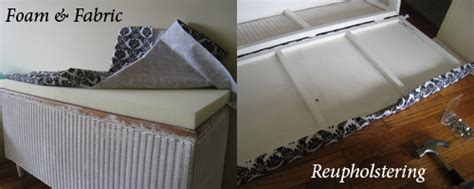 how to reupholster a bench seat diy reved wicker bench seat monniblog
