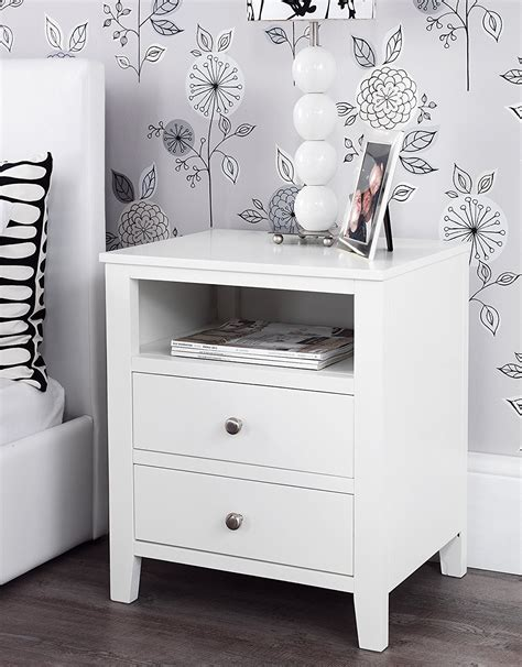 The Bed Table With Drawer by How To Decorate White Bedside Table With Drawers Blogbeen