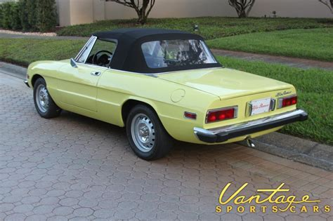 Alfa Romeo Spider 1974 by 1974 Alfa Romeo Spider Veloce Sold Vantage Sports Cars
