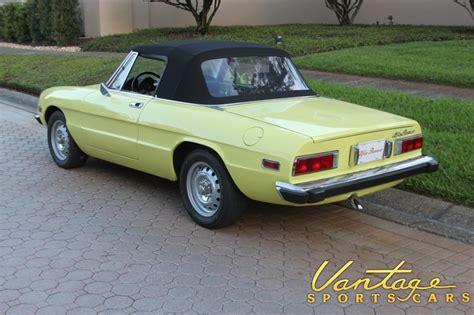 1974 Alfa Romeo Spider by 1974 Alfa Romeo Spider Veloce Sold Vantage Sports Cars