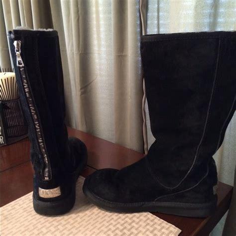 60 ugg boots black ugg back zipper boot