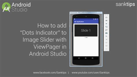how to add to a on android how to add dots indicator to image slider with viewpager in android studio sanktips