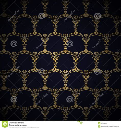 navy blue background with golden royal borders stock image and golden royal pattern on blue background stock photo