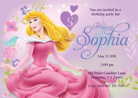 sleeping beauty birthday party invitation ideas bagvania