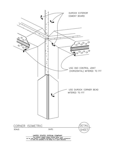 Cornice Cement Usg Design Studio 09 21 16 03 222 Durock Isometric