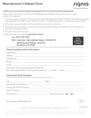 Fillable Online Manufacturer S Rebate Form Signiausa Com Fax Email Print Pdffiller Manufacturer S Affidavit Template Fillable