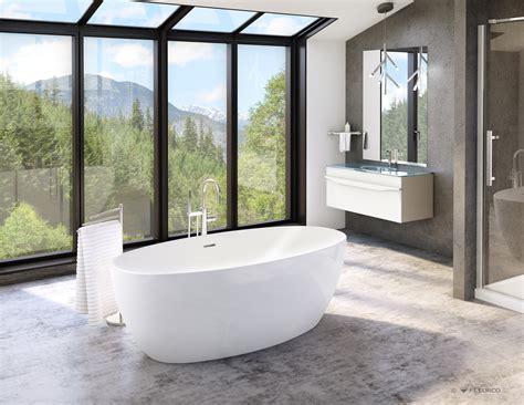 Freestanding Bathtub Installation Fleurco Bathtubs Aria Voce