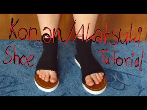 tutorial naruto shoes how to make naruto or akatsuki shoes how to save money