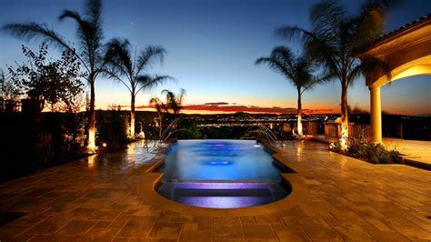 wallpaper  swimming pool palm trees