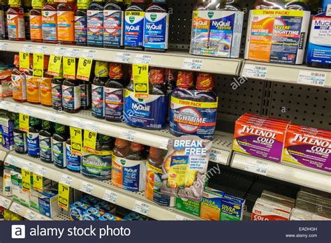Acetaminophen Shelf by Miami Florida Cvs Pharmacy Drugstore Sale Shelves Otc The Stock Photo Royalty Free