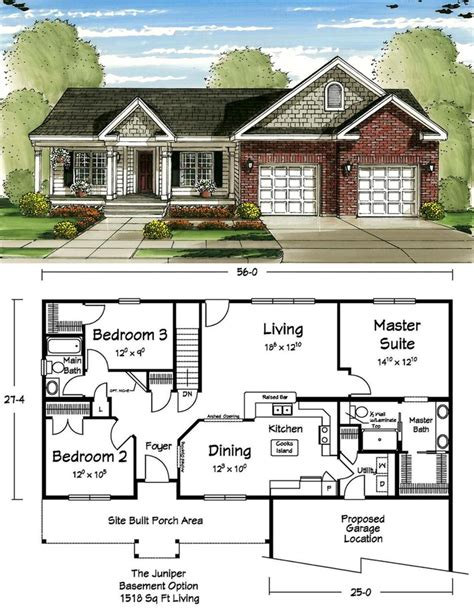 small footprint house plans this ranch floor plan makes the most out of a small footprint popular plans