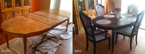 how to refinish dining room table and chairs stocktonandco