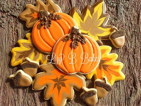 lizy b fall leaf cookie tutorial