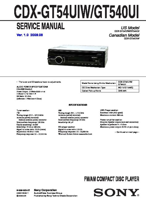 sony cdx gt610ui wiring diagram 31 wiring diagram images