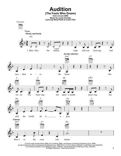 emma stone the fools who dream lyrics audition the fools who dream by emma stone ukulele