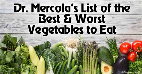 list of best list of best worst vegetables to eat