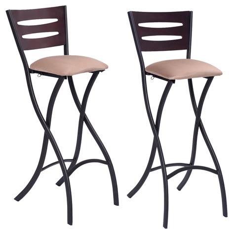 set   folding counter bar stools bistro dining kitchen pub chair furniture  ebay