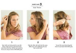 Really Easy Hairstyles For Medium Hair by Easy Hairstyles For Short Hair To Do At Home Immodell Net