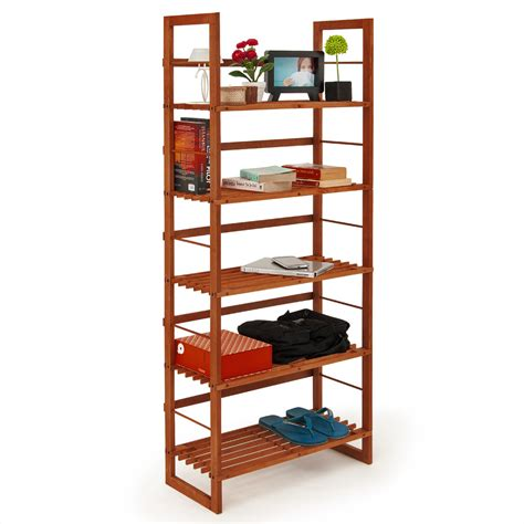 Wood Shoe Shelf by Bookcase 214 Land Home Office Storage Shelving Unit