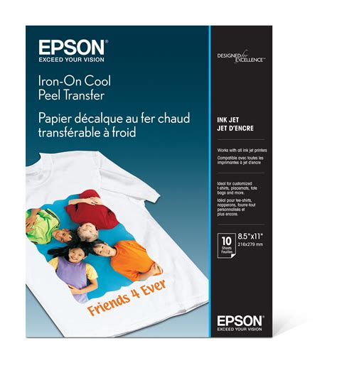 where to buy printable iron on transfer paper epson iron on cool peel inkjet transfer paper 8 5x11 10