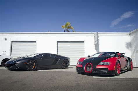 Bugatti Veyron And Lamborghini Matte Black Lamborghini Aventador And Matte Bugatti Ve