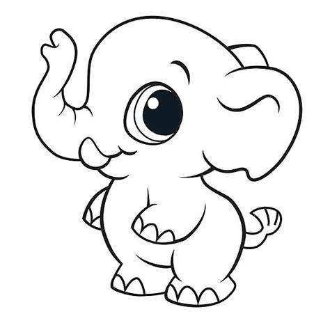 imagenes tiernas niños para colorear dibujos de elefantes tiernos para colorear