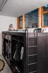 Loft Bed Entertainment Center Living Cube Combines Entertainment Center Bookshelves