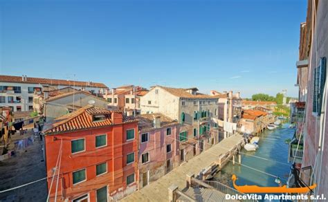 venice apartment with terrace canal view