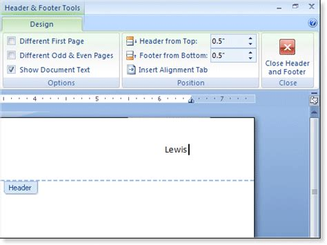 design a header in word 8 header in word resume type