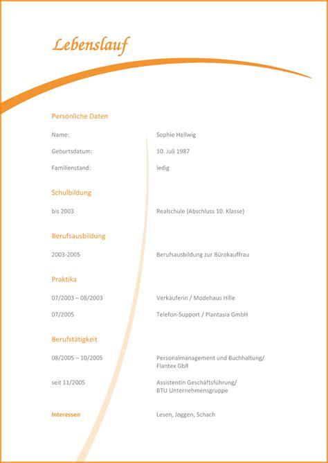 Lebenslauf Vorlagen Ohne Bild 5 Lebenslauf Muster Reimbursement Format