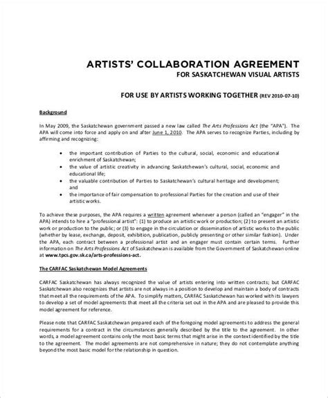 Letter Agreement Research Collaboration research collaboration agreement template 28 images