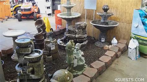 Balinese Home Decorating Ideas by Water Fountains Garden Center At Home Depot Youtube