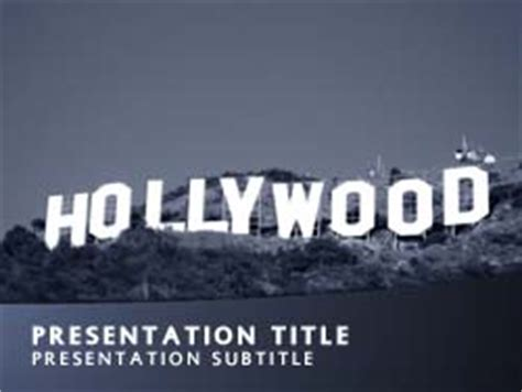 royalty free hollywood powerpoint template in blue