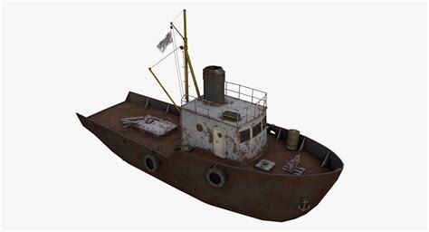 old boat game 3d old fishing boat model turbosquid 1211278