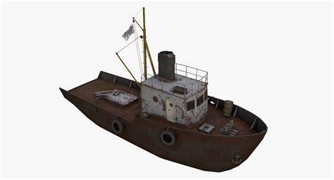 old boat models 3d old fishing boat model turbosquid 1211278