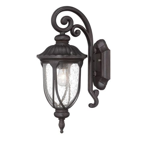 Outdoor Lighting Fixtures Wall Mount Acclaim Lighting Laurens Collection 1 Light Black Coral Outdoor Wall Mount Light Fixture 2202bc
