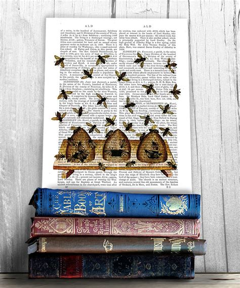 beehive print beehive decor honey bee decor honey bee print