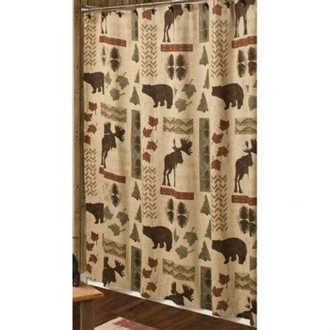 log cabin shower curtains shower curtain log cabins and decor pinterest