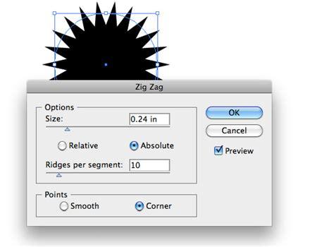 illustrator draw zigzag illustrator quick tip using the zig zag filter to create