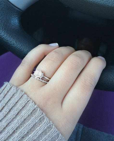 best 25 pearl engagement rings ideas on pearl
