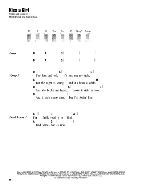 strumming pattern how you get the girl tablature guitare kiss a girl de keith urban ukulele
