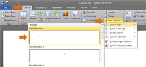 Buat Nomor Halaman Di Word 2010 | cara memberikan jenis penomoran berbeda pada microsoft