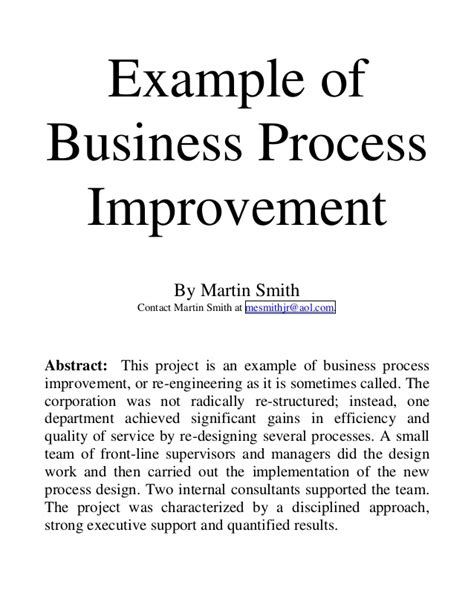 thesis abstract exle business man op tugas 1 ex business process reengineering