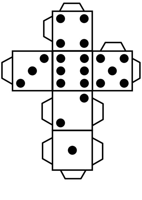 free printable dice pattern printable die dice by snifty a template for printing out