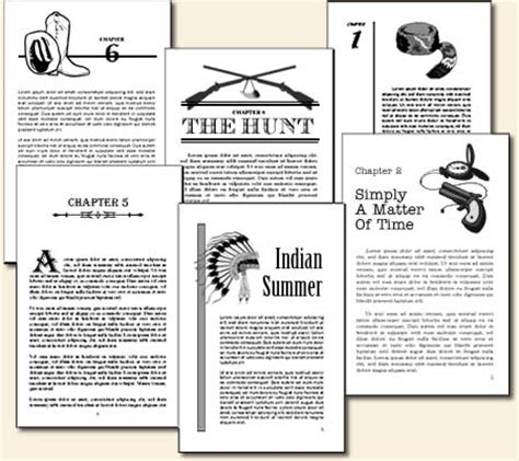book layout chapter headings typesetting and page layout for historical fiction