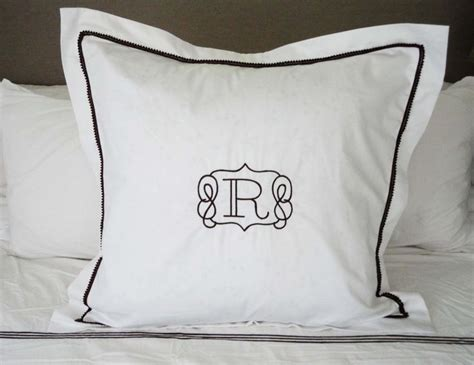monogrammed bed pillows best 25 monogram bedding ideas only on pinterest
