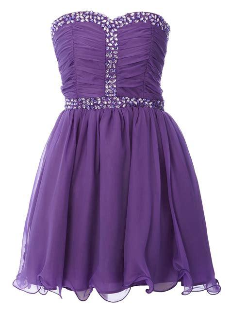 Dress Pricill Kid Purple purple silky chiffon gem trim dress prom dresses