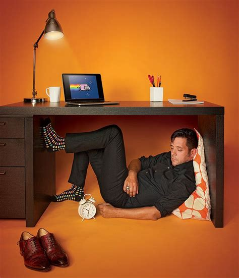 work sleeping tips from a who lived in his office for